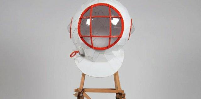 """Todd Gronsdahl, """"G.A.S.P.R. Helmet (detail),"""" 2017"""