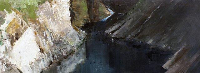 """Terry Fenton, """"Encounter, Canyon Creek,"""" 2017"""