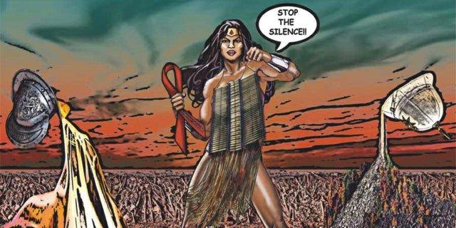 "Mary V. Longman, ""Warrior Woman: Stop the Silence!!"" billboard"