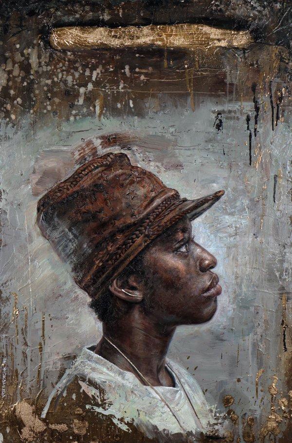 """Tim Okamura, """"Gold Vein,"""" 2016"""