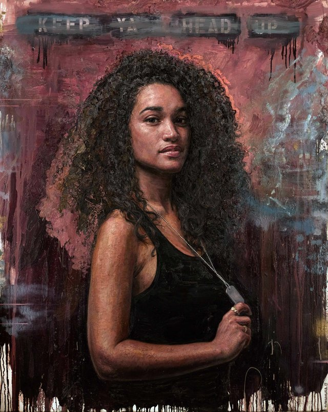 "Tim Okamura, ""Keep Ya Head Up,"" 2017"