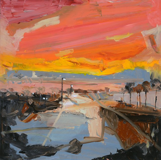 "Simon Andrew, ""Urban Sunset,"" 2017"