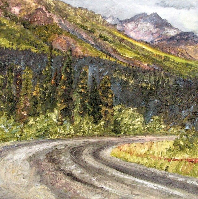 """Nicole Bauberger, """"Get There From Here #204 (Dempster Highway, Yukon),"""" 2008"""