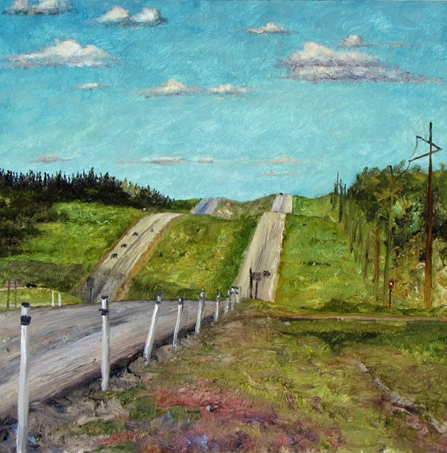 "Nicole Bauberger, ""Get There From Here (between Edmonton and Grande Prairie),"" 2009"