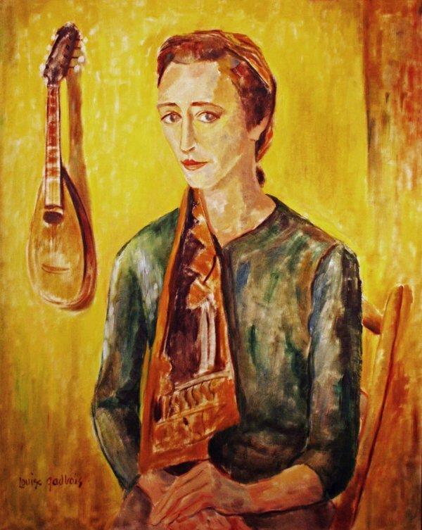 "Louise Gadbois, ""Woman with Mandoline,"" nd"