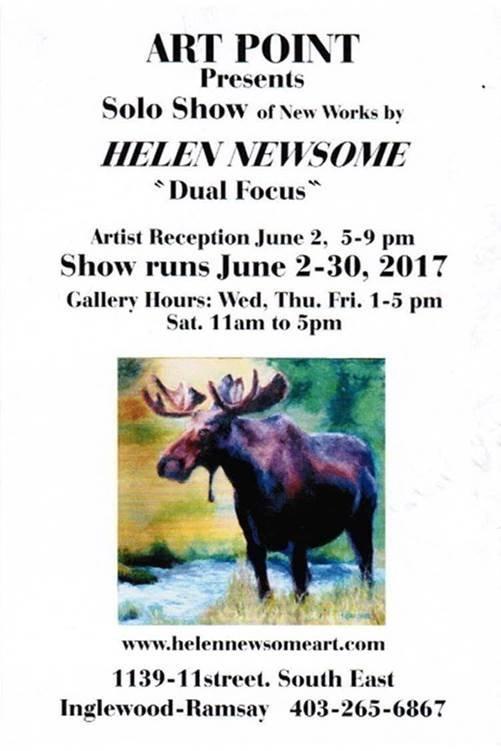 "Helen Newsome, ""Dual Focus"" Invitation"