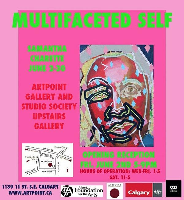 "Samantha Charette, ""Multifaceted Self,"" Invitation"