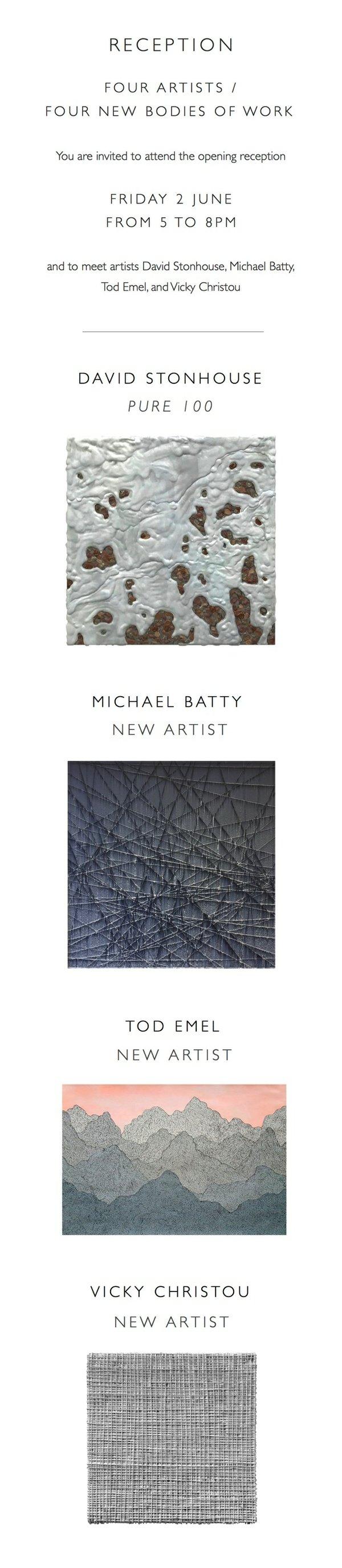"David Stonhouse, Vicky Christou, Michael Batty, & Tod Emel, ""Invitation"""