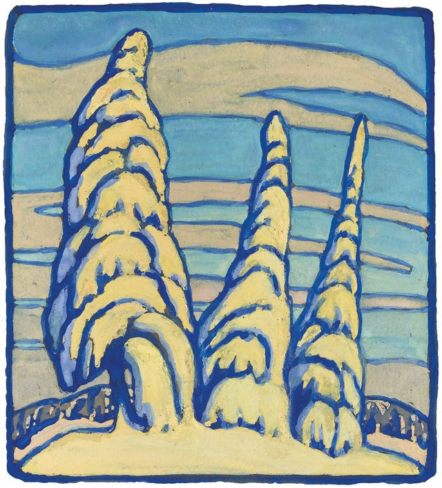 "Lawren Stewart Harris, ""Snow-Covered Trees,"" 1929"