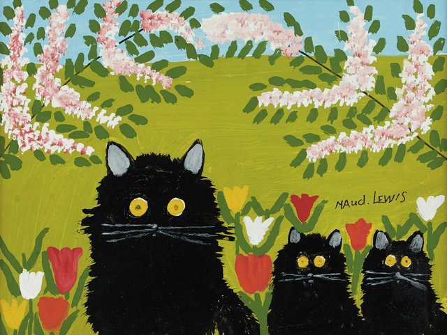 "Maud Lewis, ""Three Black Cats,"" n.d."