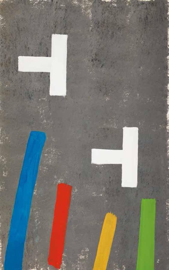 "Jack Bush, ""Two Road Marks,"" 1970"