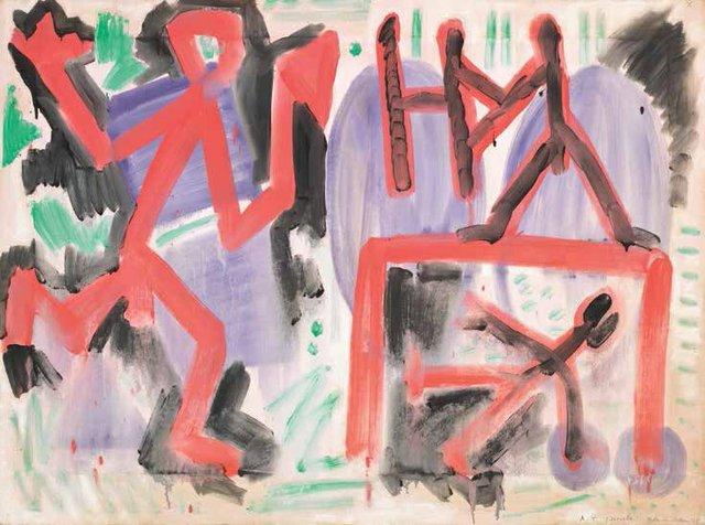 "A.R. Penck, ""Ende im Osten,"" 1978"