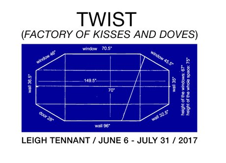 "Leigh Tennant, ""TWIST: Factory of Kisses and Doves Invitation"
