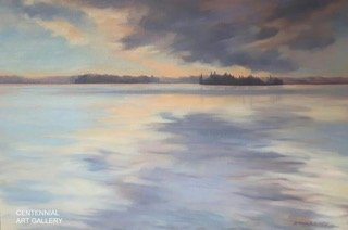 "Gabriele Vogt-Lynch, ""Title:Sunset on Sylvan Lake"""