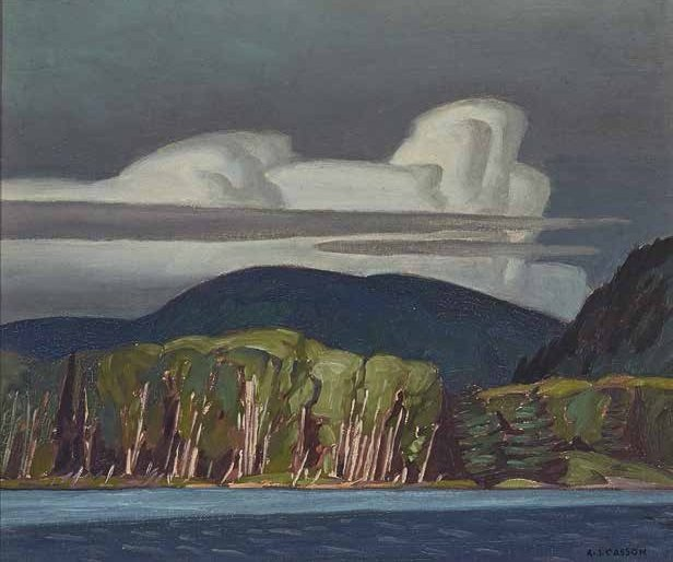 "Alfred Joseph Casson, ""Lake of Two Rivers,"" 1947"
