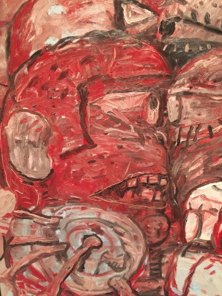 """Installation detail from """"Philip Guston and The Poets,"""" Gallerie dell'Accademia di Venezia"""