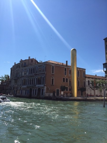"James Lee Byars, ""The Golden Tower,"" Near the Palazzo Contarini, Venezia"