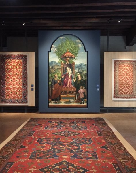 """Serenissime Trame: Carpets from the Zaleski Collection and Renaissance Paintings,"" Ca D'Oro, Venezia"