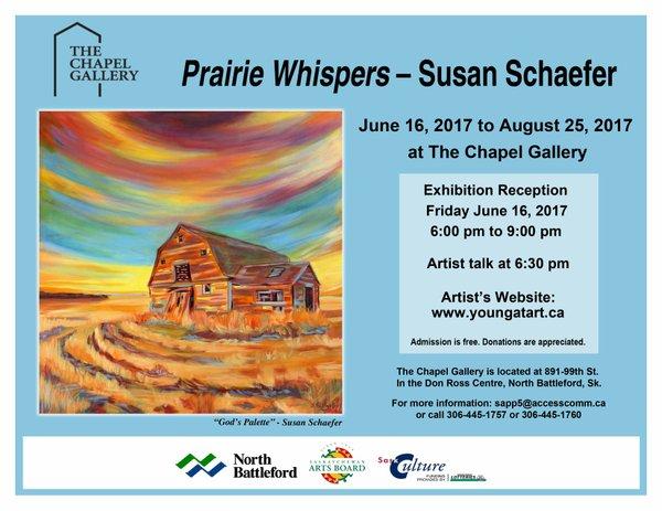 "Susan Schaefer, ""Prairie Whispers, Invitation,"""