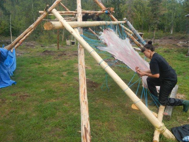 "Jeneen Frei Njootli, Hide Scrape for ""Being Skidoo,"" Vuntut Gwitchin First Nation"