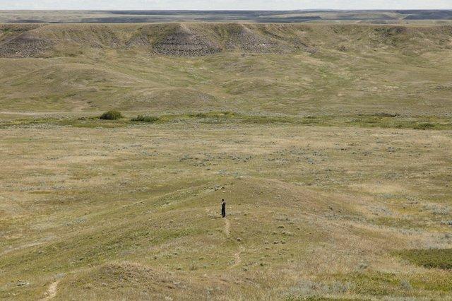 """Michael Belmore, Site visit for """"Coalescence"""" in Grasslands National Park"""