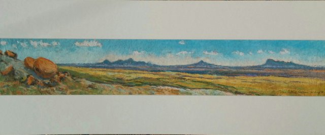 """Dean Tatam Reeves, """"Panorama – Red Rock Coulee / Sweetgrass Hills,"""" nd"""