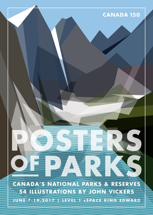 "John Vickers, ""Posters of Parks,"" invitation"