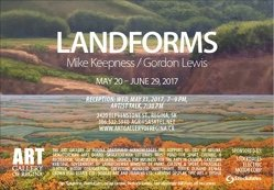 """Mike Keepness and Gordon Lewis, """"Landforms Invitation"""""""