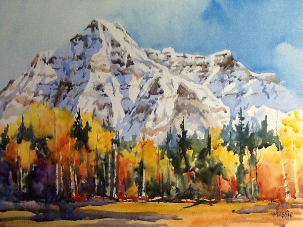 "Donna Jo Massie, ""Mount Robson, Cover Piece,"" 2017"