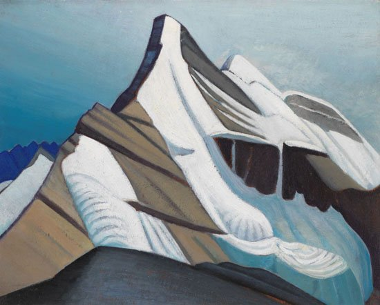"Lawren Stewart Harris, ""Lynx Mountain, Mt. Robson District, BC / Mountain Sketch XLI:"" circa 1929"