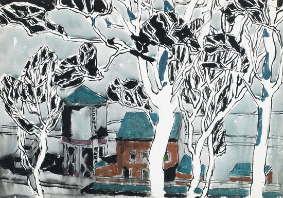 "David Milne, ""White Trees, Boston Corners, New York,"" circa 1916"