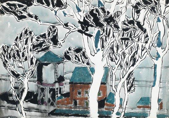 "David Milne, ""White Trees, Boston Corners, New York,"" circa 1916"