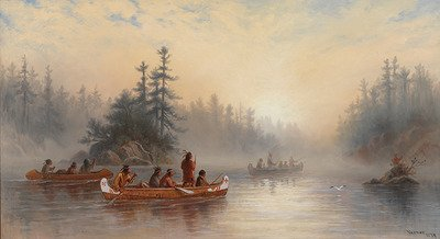 "Frederick A.Verner, ""Ojibway Indians on Rainy River,"" 1879"