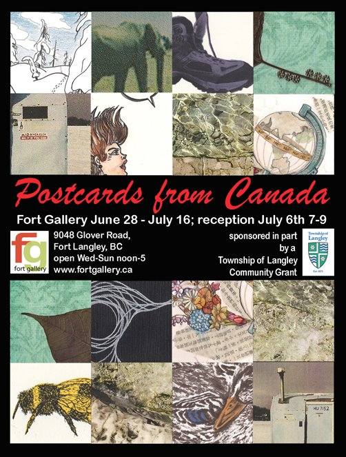 Postcards from Canada Invite