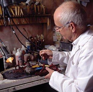 Reinhard Skoracki in his studio