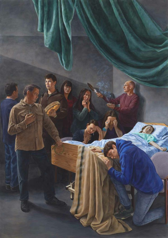 "Kent Monkman, ""Death of The Virgin (After Caravaggio), 2016"
