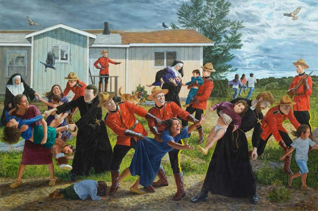"Kent Monkman, ""The Scream,"" 2017"