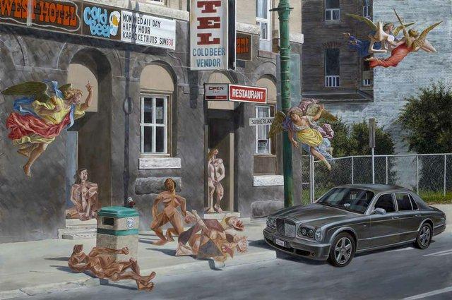 """Kent Monkman, """"Le Petit dejeuner sur l'herbe,"""" 2014"""