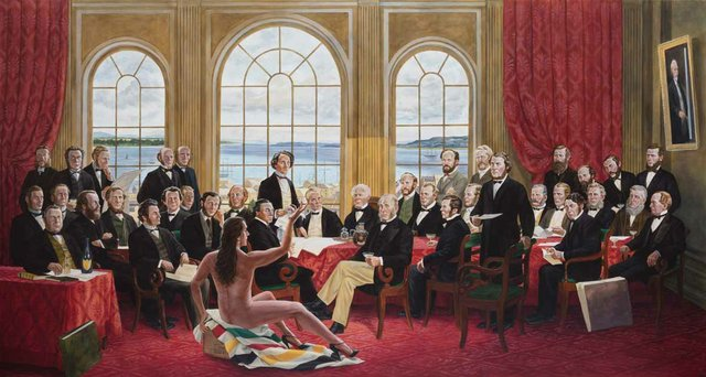 "Kent Monkman, ""The Daddies,"" 2016"