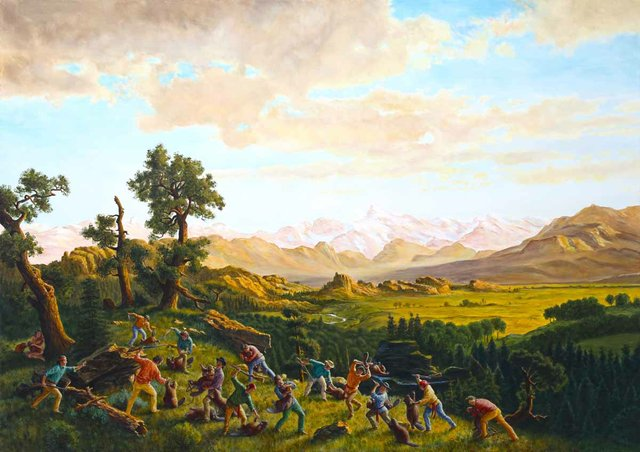 "Kent Monkman, ""The Massacre of the Innocents,"" 2015"