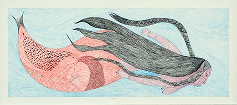 "Ningiukulu Teevee, Canadian (Cape Dorset), b. 1963 ""Sea Goddess,"" 2010"