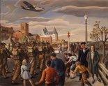 "Henry George Glyde, ""Edmonton, (detail),"" 1943"