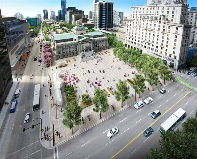 Vancouver Art Gallery North Plaza Rendering