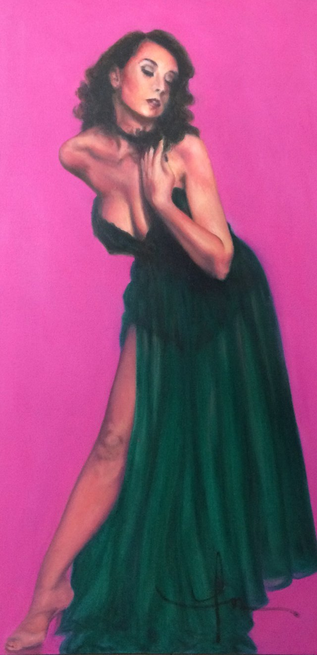"Fran Schlosser, ""Pink Lady,"" nd"