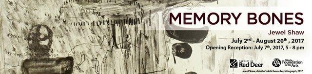 "Jewel Shaw, ""Memory Bones,"" Invitation"