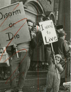 "Unknown Photographer, ""Dave John Bryant and son in Toronto for peace demonstration,"" 1961"