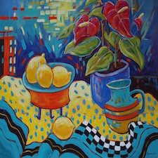 "Regina Seib, ""Still Life with Lemons,"" nd"