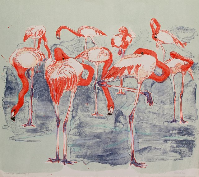 "Elizabeth Allen, ""Flamingo Fantasy,"" nd"