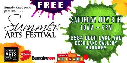Summer Arts Festival Invitation