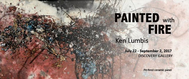 "Ken Lumbis, ""Painted with Fire,"" invitiation"